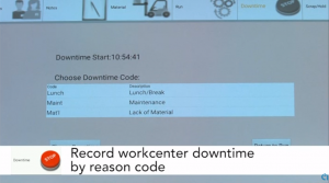 Mobility MES app record-downtime-at-workcenter