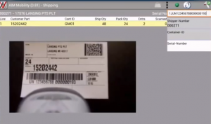scan serial master or mixed label to verify ship order