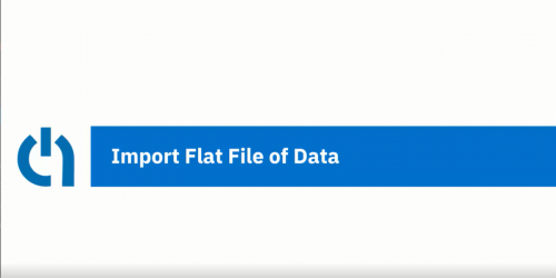 Import Flat File Data to AIM