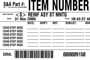 bar code label production generic routing label