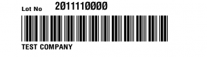 bar code label Receiving Lot Label