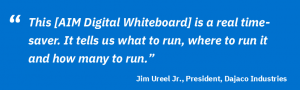 Quote from Dajaco Industries regarding Digital Whiteboard